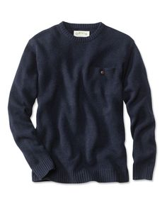 Cashmere/wool Orvis sweater. Pocket detail.