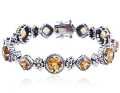 Sterling Silver Floral Round and Square-Cut Citrine Vintage Station Bracelet Joolwe. Save 56 Off!. $159.99