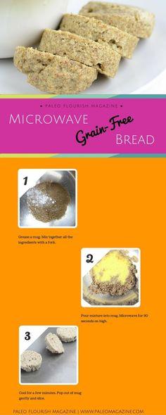 Microwave Paleo Bread #paleo #recipes #gluten-free http://paleomagazine.com/microwave-paleo-bread/