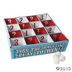 Carnival Table Tennis Ball Toss Game Step right up to big fun and toss the plastic balls to rack up points! Use this toss game as a carnival game or use it in the classroom as a math game. Carnival Themed Party, Carnival Birthday Parties, Carnival Themes, Birthday Party Games, Carnival Prizes, Circus Birthday, Circus Party, Third Birthday, Circus Theme Crafts