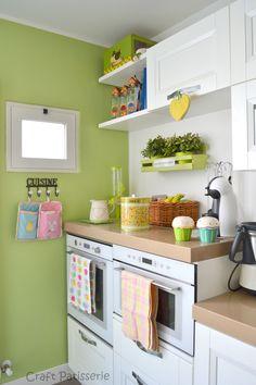 "Foto ""pinnata"" dalla nostra lettrice Carla Covasce. white green spring kitchen http://craftpatisserie.wordpress.com/"