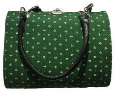Trachtentasche Dirndltasche Almsach Vintage mit Standfüßchen grün