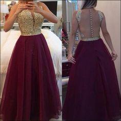 Maroon and Gold Bridesmaid Dresses