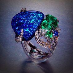 Scavia black #opal beauty bling jewelry fashion