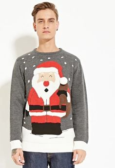 Santa Claus Graphic Sweater | Forever 21 #foreverfamily