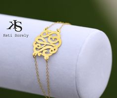 attention valentine; love this initial bracelet
