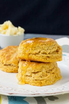 Old Fashioned Homemade Sweet Potato Biscuits with Honey Butter recipe are buttery, slightly sweet, and pillowy soft.My family loves them for breakfast, snacks or with dinner!