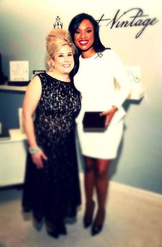 Paige Jansen (founder of Saint Vintage) with Jennifer Hudson at Variety Power of Women Event!