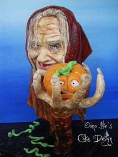 The Witch and the Frightened Pumpkin - Cake by Oana Ilie