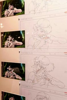 Animation Storyboard, Animation Sketches, Storyboard Artist, Hayao Miyazaki, Studio Ghibli Art, Studio Ghibli Movies, Totoro, Personajes Studio Ghibli, Fanarts Anime