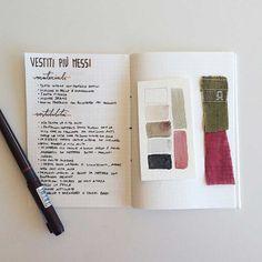 Progetto 333 & Guardaroba capsula sul bullet Journal