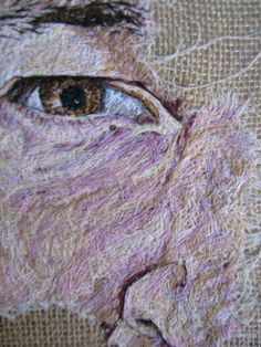 artwork by artist Emily Tull including portraits, nature, commissions, paintings and hand stitched. Portrait Embroidery, Embroidery Art, Embroidery Stitches, Machine Embroidery, A Level Textiles, Thread Painting, Textile Artists, Hand Stitching, Art Inspo