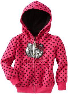 Hello Kitty Girls 2-6X Polka Dot Fleece Hoodie « Clothing Impulse