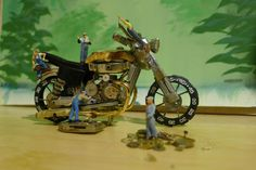 little people helping me make my watch parts motorcycles ... more at www.facebook.com/watchpartsmotorcycles