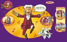 Cute website for kids about Mozart