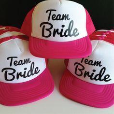 Set Of 10 Team Bride Hats. Bachelorette Party Hats. Hen Party Hats. Wedding Party Hats. Snapback Trucker. Bridesmaid Hat. Bachelorette Hat. by SoPinkUK on Etsy