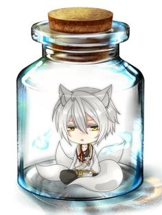 Anime chibi in a Bottle....I should be getting ready for school but here I am…