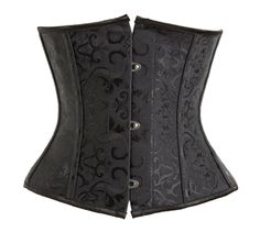 QinYing Women Underbust Waist Cincher Vintage Brocade Bustier Underwear Steel Boned Corset M * Find out more about the great product at the image link. (This is an affiliate link and I receive a commission for the sales) Corset Sexy, Underbust Corset, Black Corset, Corset En Cuir, Leather Corset, Bustiers, Gothic Lingerie, Women Lingerie, Sexy Lingerie