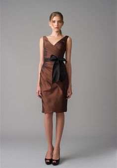 Monique Lhuillier Bridesmaids - 450015 Available at GIGI of Mequon in WI. www.gigiofmequon.com