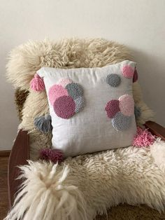 Diy Pillows, Throw Pillows, Punch Needle, Decorative Pillow Covers, Natural Linen, Pillowcases, Sheep, Cozy, Pure Products