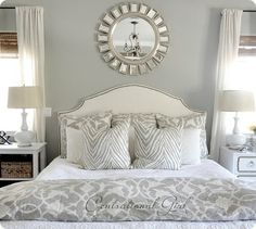 Wrong link but love the gray+white combo. zebra pillows are from z-gallerie, bedding is bed bath and beyond. LOVE