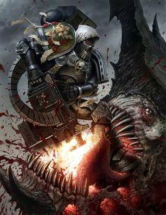 Dark Angel Heavy Marine (Deathwatch)