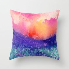 Decorative Pillow Cover - Lupin Painting - Throw Pillow Cushion - Home Decor