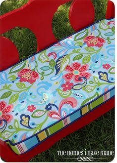 DIY cushion for mudroom bench