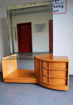 Sale Vintage Heywood Wakefield Sculptura Deluxe Vanity Mirror Dresser.  $285.00, Via Etsy.