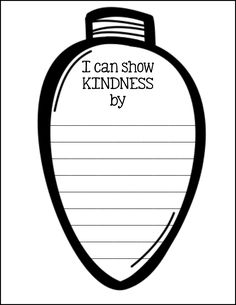 Lights of Kindness - Craft and Writing Activity for December and winter! Christmas decoration, classroom, community, PBIS, holidays, community building, kindergarten, first grade, second grade, third grade, fourth grade, fifth grade