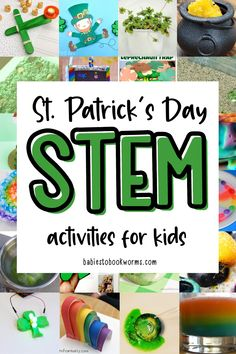 Explore STEM concepts with these St. Patrick's Day STEM activities for kids! Preschool Lessons, Craft Activities For Kids, Hands On Activities, Stem Activities, Kindergarten Activities, Preschool Ideas, Kid Crafts, Learning Activities, Holiday Crafts