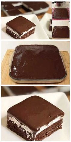 Cake Recipes Easy Chocolate Baking - New ideas Banana Dessert Recipes, Easy Cookie Recipes, Mini Desserts, Cake Recipes, Dessert Food, Easy Desserts, Sweet Recipes, Easy Vanilla Cake Recipe, Chocolate Cake Recipe Easy