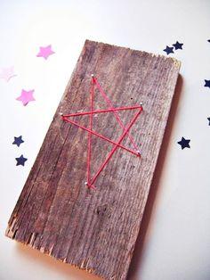 Ahoj-2012 Neon-Holzstern, Stern zur Dekoration  von Ahoj-2012 auf DaWanda.com