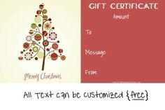 Generic Gift Certificate Template Free - Generic Gift Certificate Template Free , Free Gift Certificate Templates You Can Customize Christmas Gift Voucher Templates, Christmas Gift Vouchers, Free Christmas Gifts, Christmas Card Template, Free Christmas Printables, Homemade Christmas Gifts, Merry Christmas, Christmas Cover, Christmas Holidays