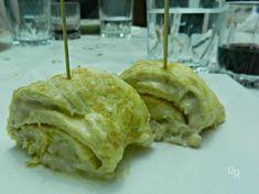 """""""Rollitos de tortilla con bechamel de boletus"""""""