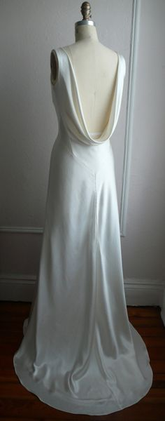 1930's Inspired Bias Bridal Gown Ella Low back Backless by rschone, $1558.00