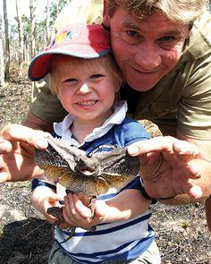 Steve Irwin and little Robert