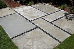 pavers and pebbels patio   Concrete Paver Patios Design Ideas, Pictures, Remodel, and Decor