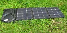faltbares Solarmodul, ausgefaltet.