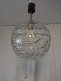 Mid Century Doria Organic Glass Ball Decken Lampe Ceiling Lamp ø 30 cm. #