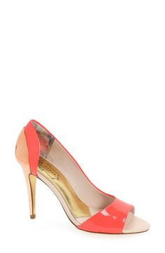 Cute for work! Love this pink and nude Ted Baker pump.
