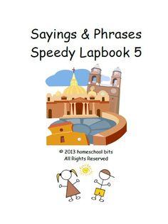 Sayings & Phrases - Speedy Lapbook 5 - homeschool bits      speedy lapbooksCurrClick