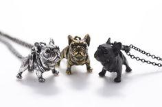 Ketten - Französische Bulldogge Kette - ein Designerstück von zwergschmuck bei DaWanda