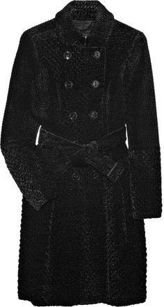 Burberry Prorsum Textured-velvet Trench Coat in Black