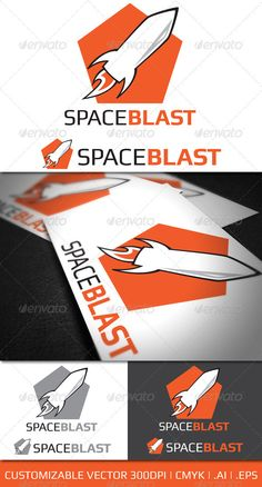 Space Blast  - Logo Design Template Vector #logotype Download it here: http://graphicriver.net/item/space-blast-logo-template/926270?s_rank=124?ref=nexion