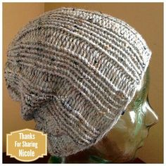 Loom Knit Rib Stitch Hat for Men and Women