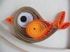 cuadro decorado con papel papel quilling,filigrana de papel