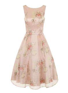 Chi Chi London Floral midi dress $110.00 AT vintagedancer.com