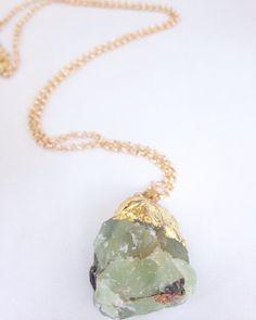 #greenstone ##ohrajewelry #stonenecklace