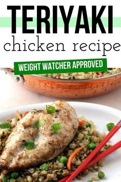 This Teriyaki Chicken is WW approved and so moist and flavorful. Pair it with some veggies or riced cauliflower for a wonderful dinner. #ww #chicken Weight Watchers Chicken, Weight Watchers Meals, Chicken Teriyaki Recipe, Chicken Recipes, Food Dishes, Main Dishes, Chicken Life, Cauliflower Fried Rice, Dinner Recipes